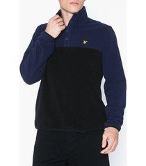 lyle & scott microfleece pullover tröjor navy