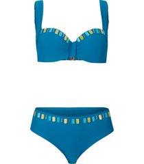 bikini con ferretto (set 2 pezzi) (petrolio) - bpc selection