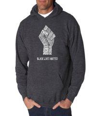 la pop art men's word art hooded sweatshirt - black lives matter