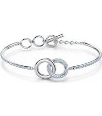 swarovski crystal interlink-ring bangle bracelet