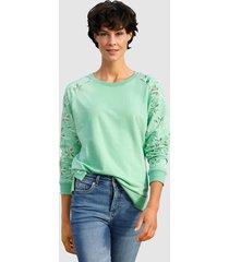 sweatshirt dress in lindblomsgrön