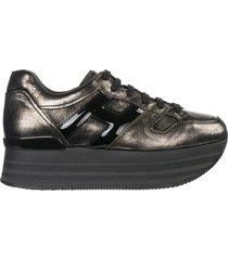 scarpe sneakers donna in pelle maxi h222