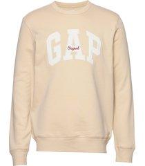 gap logo fleece crewneck sweatshirt sweat-shirt tröja creme gap