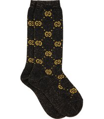 gucci black socks for girl with black gg