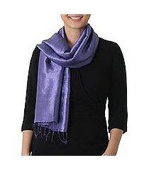silk scarf, 'otherworldly in blue-violet' (thailand)