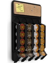 mind reader fridge, wall-mount k-cup single serve coffee pod dispenser with cork top