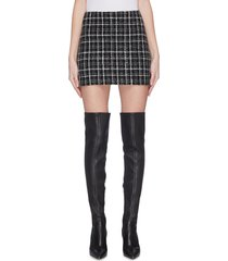 'elana' check plaid mini skirt