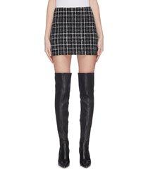 'elana' check plaid mini skirt