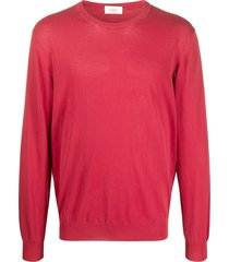 altea crew neck cotton sweatshirt - red