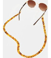 nayla convertible sunglasses & face mask chain - tortoise