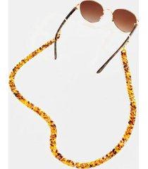 nayla convertible sunglasses & face mask chain - tortoise