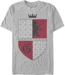 fifth sun men's gryffindor shield short sleeve crew t-shirt