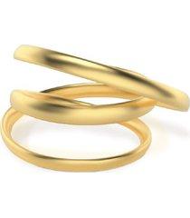 anillo double loop dorado vari