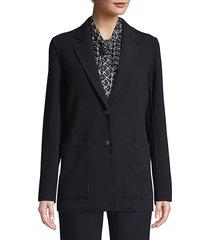 lafayette 148 new york women's annmarie stretch virgin-wool jacket - navy - size l