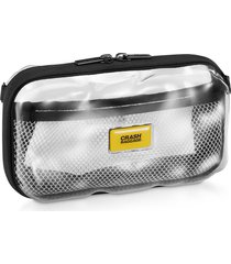 crash baggage designer travel bags, mini share clear hard travel case
