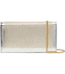 casadei stud-embellished clutch bag - silver