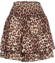 cello mini skirt kort kjol brun second female