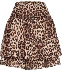 cello mini skirt kort kjol brun second female