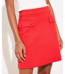 loft textured pocket shift skirt