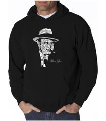 la pop art men's word art hoodie - al capone - original gangster