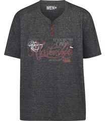 t-shirt men plus marine::roest::grijs
