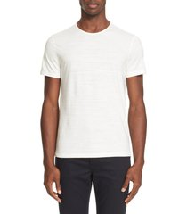 men's john varvatos slub slim fit pima cotton t-shirt, size x-small - ivory
