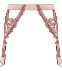 fleur of england desert rose suspender belt - pink