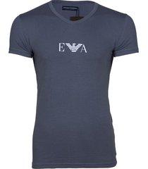 armani v-shirt ea antraciet logo