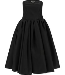 re-nylon gabardine bustier dress
