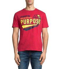 prps men's cotton race tee - red - size xxl