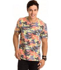 camiseta masculina militar fluor total sublimada - area verde - multicolorido - masculino - dafiti