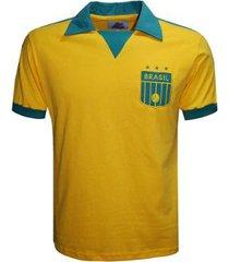 camisa liga retrô brasil polo triângulo masculina