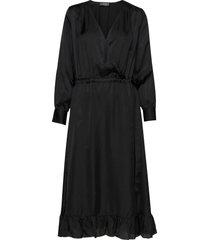 chita dress jurk knielengte zwart mos mosh