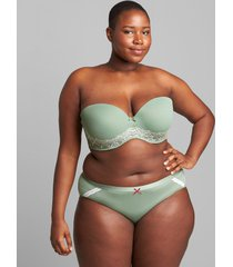 lane bryant women's multi-way boost strapless bra with lace 44ddd hedge green