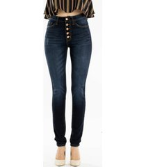 kancan high rise button fly super skinny jeans