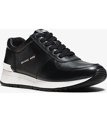 mk sneaker allie in pelle - nero (nero) - michael kors