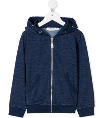 bonpoint zip-front cotton hoodie