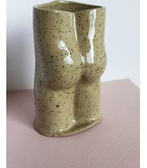 wazon dupa beżowy w kropki