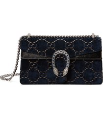 gucci small dionysus gg velvet shoulder bag -