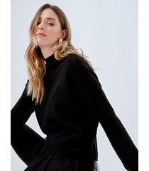 motivi maglia con top abbinato donna nero
