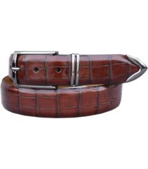 lejon men's salt creek italian calfskin croc embossed dress belt