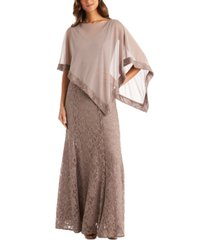 r & m richards poncho & gitter-lace gown