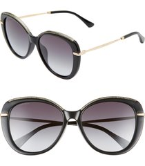 women's jimmy choo phebe 56mm special fit butterfly sunglasses -