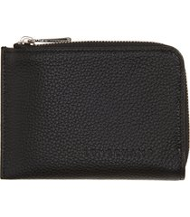 women's longchamp le foulonne leather coin purse with removable card holder - black