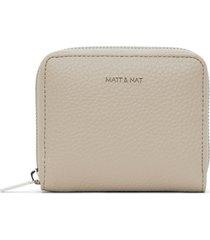 matt & nat rue small vegan zip wallet purity, dream