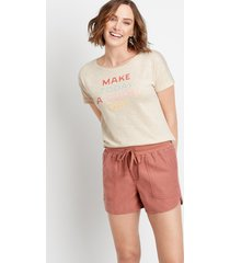 maurices womens rust weekender 3.5in shorts brown