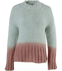 ombré dip dye knit sweater