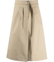 a.p.c. caroline a-line skirt - neutrals