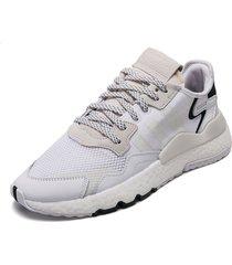 tenis lifestyle blanco-negro adidas originals nite jogger