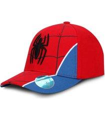 gorra spiderman marvel traje roja con azul oc caps